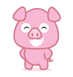 funny pig animal vetcor art vector image