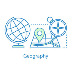 geography concept icon vector image