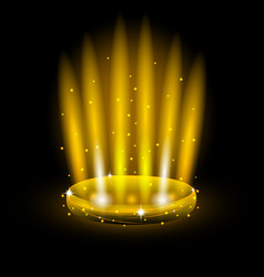 Golden light ring effect vector