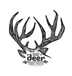 Graphic design for t shirt with a image of deer vector