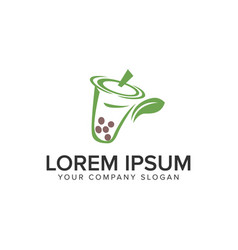 Green drink logo design concept template fully vector
