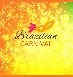 Happy brazilian carnival day new abstract vector