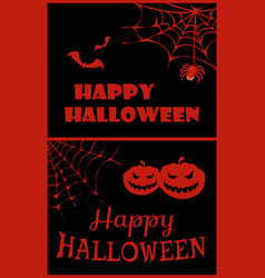 happy halloween placard on vector image