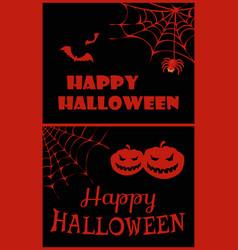 happy halloween placard on vector image