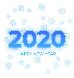 happy new year 2020 logo text design cover vector image