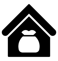 Harvest Warehouse Flat Icon vector image