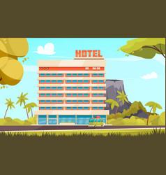 hawaii hotel composition vector image