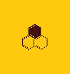 honey comb and beekeeping logo design bees wax vector image