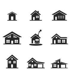 house icon set line style icon design ui vector image