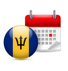 Icon of national day in barbados vector