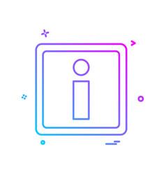 information icon design vector image
