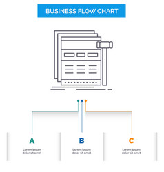 Internet page web webpage wireframe business flow vector