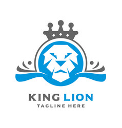 lion kings logo vector image