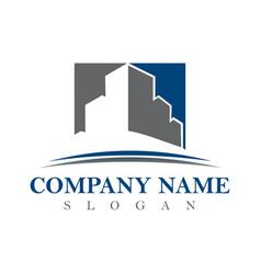 logotype real estate vector image