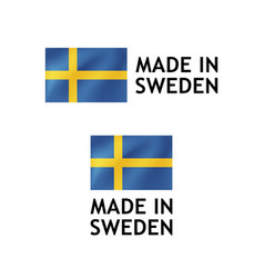 made in sweden label tag template vector image