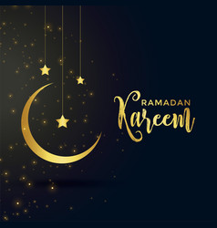 Moon and star for islamic ramadan kareem season vector