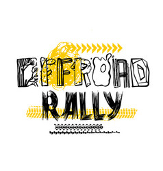 off road rally lettering vector image