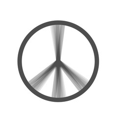 peace sign gray icon shaked vector image