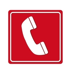 phone call red signal vector image