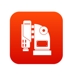 Pneumatic hammer machine icon digital red vector