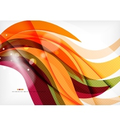 Purple and orange color lines vector image