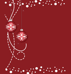 red christmas balls with ornament vector image