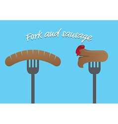 sausage and cocktail vector image
