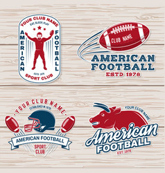 set american football or rugby club badge vector image