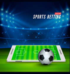 soccer bet online sports betting concept soccer vector image