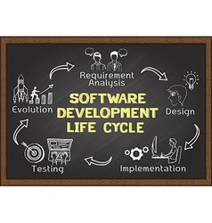 Software development lifre cycle vector image
