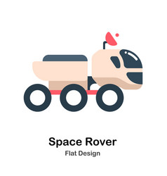 Space rover flat vector