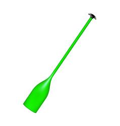 Sporting oar in green design vector