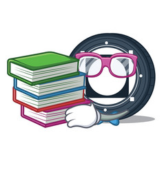 Student with book byteball bytes coin mascot vector