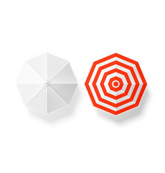 sun umbrella striped white mockup set vector image