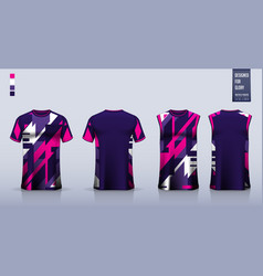 T-shirt sport mockup template design for soccer vector