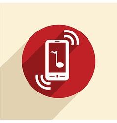 telephone handset vector image