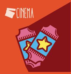 tickets cinema cartoon vector image
