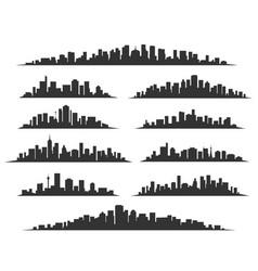 Urban cityscape silhouettes vector