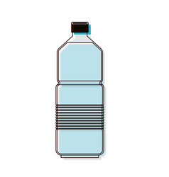 water bottle icon in watercolor silhouette vector image
