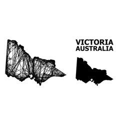 Wire frame map australian victoria vector