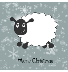 with Sheep greeting card ChristmasNew year 2015 vector image