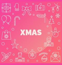 xmas modern line christmas vector image
