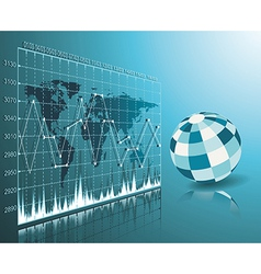 Blue globe on the digital technology background vector image vector image