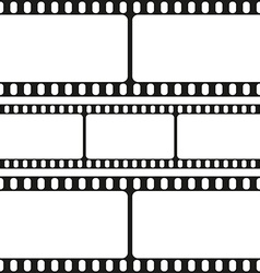 Film strips seamless pattern vector image vector image