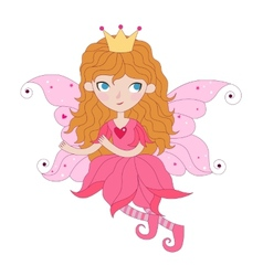 Floral fairy vector image