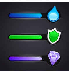 Game icons and resource bar set vector image vector image