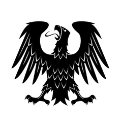 Heraldic eagle with raised wings turned head vector image vector image