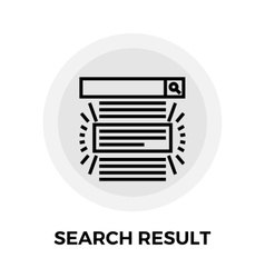 Search Result Line Icon vector image