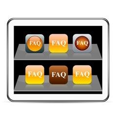 FAQ orange app icons vector image vector image
