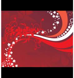 floral background red vector image vector image